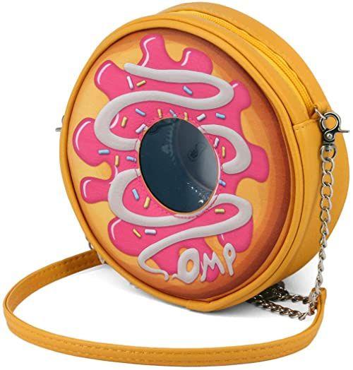 Oh My Pop Oh My Pop! Popnut okrągła torba na ramię listonoszka, 18 cm, różowa