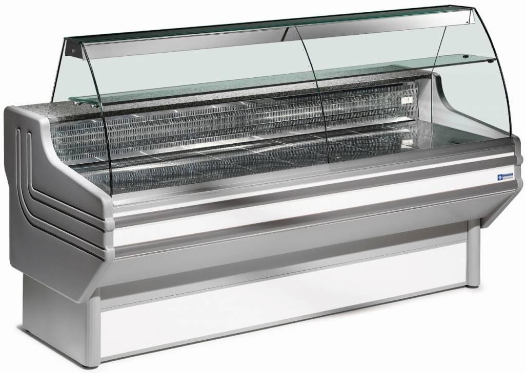 Lada chłodnicza szyba gięta wentylowana 0 +2  760W 2000x930x(H)1270mm