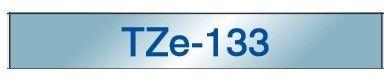 Brother TZe-133 taśma, nadruk niebieski na przezroczystym tle, 12 mm, oryginalna