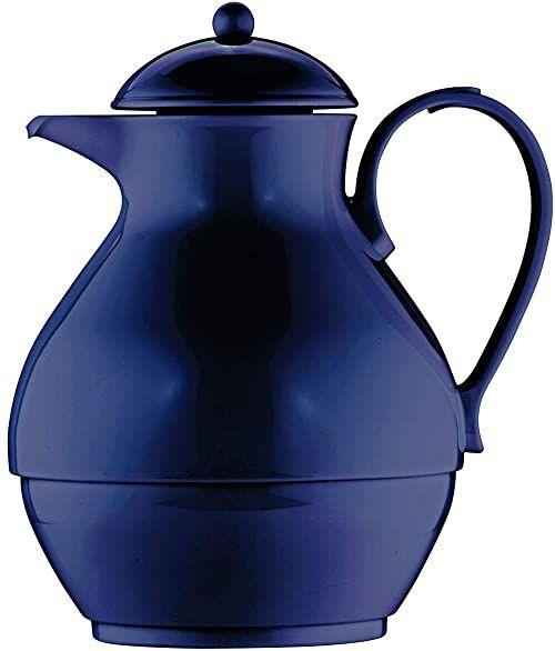 Helios Nostalgiczny dzbanek izolacyjny z tworzywa sztucznego, ciemnoniebieski, 1 litr