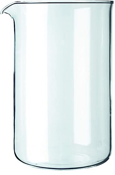 Bodum 1512-10 12 filiżanek do kawy, kubek zamienny, szkło - przezroczyste, 1,5 l