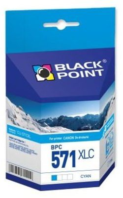 Wkład atramentowy BLACK POINT BPC571XLC Zamiennik Canon CLI-571CXL