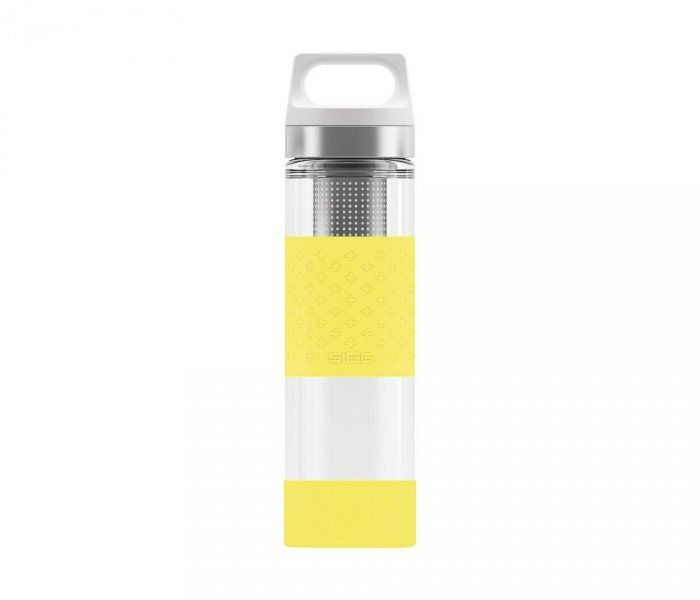Termos szklany SIGG WMB z zaparzaczem HOT & COLD Glass 400 ml (Lemon)