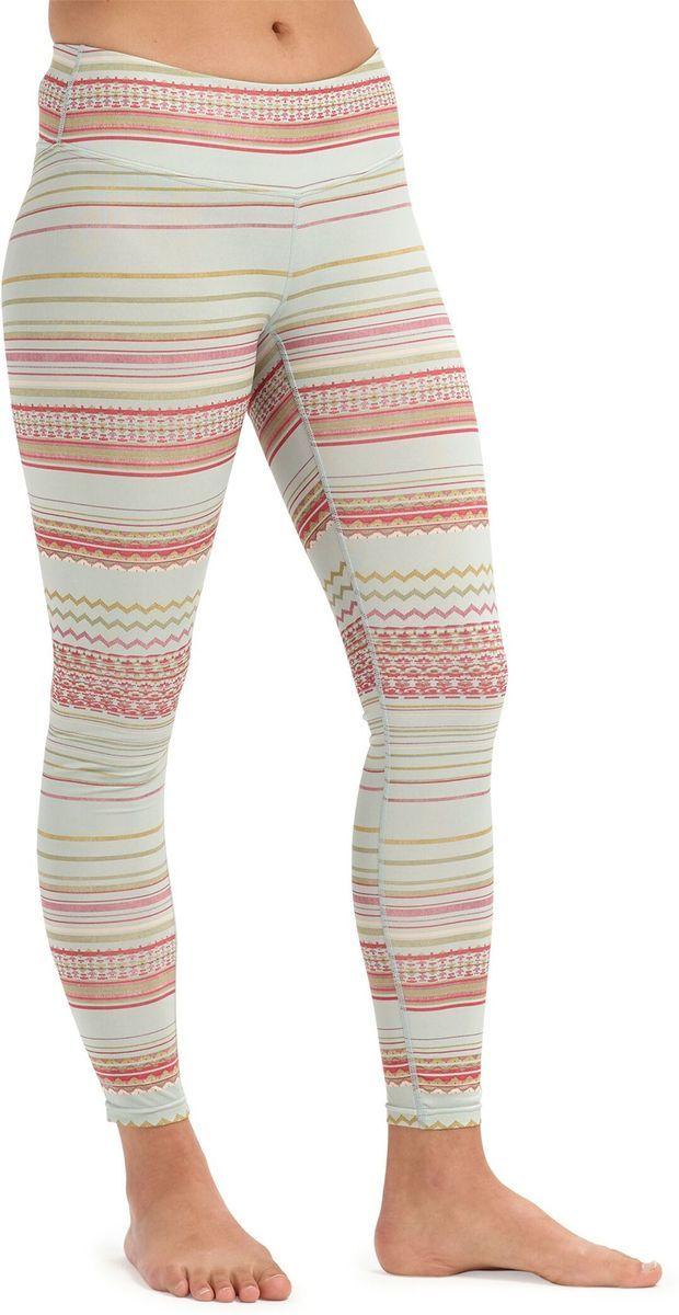 bielizna termoaktywna damska - spodnie BURTON LIGHTWEIGHT PT Aqua Gray Revel Stripe