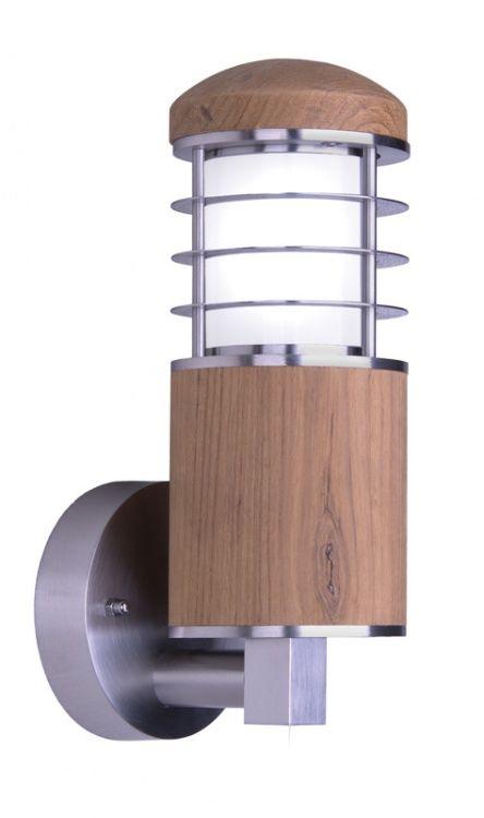 Kinkiet zewnętrzny Poole GZ/POOLE W Elstead Lighting drewniana oprawa w nowoczesnym stylu