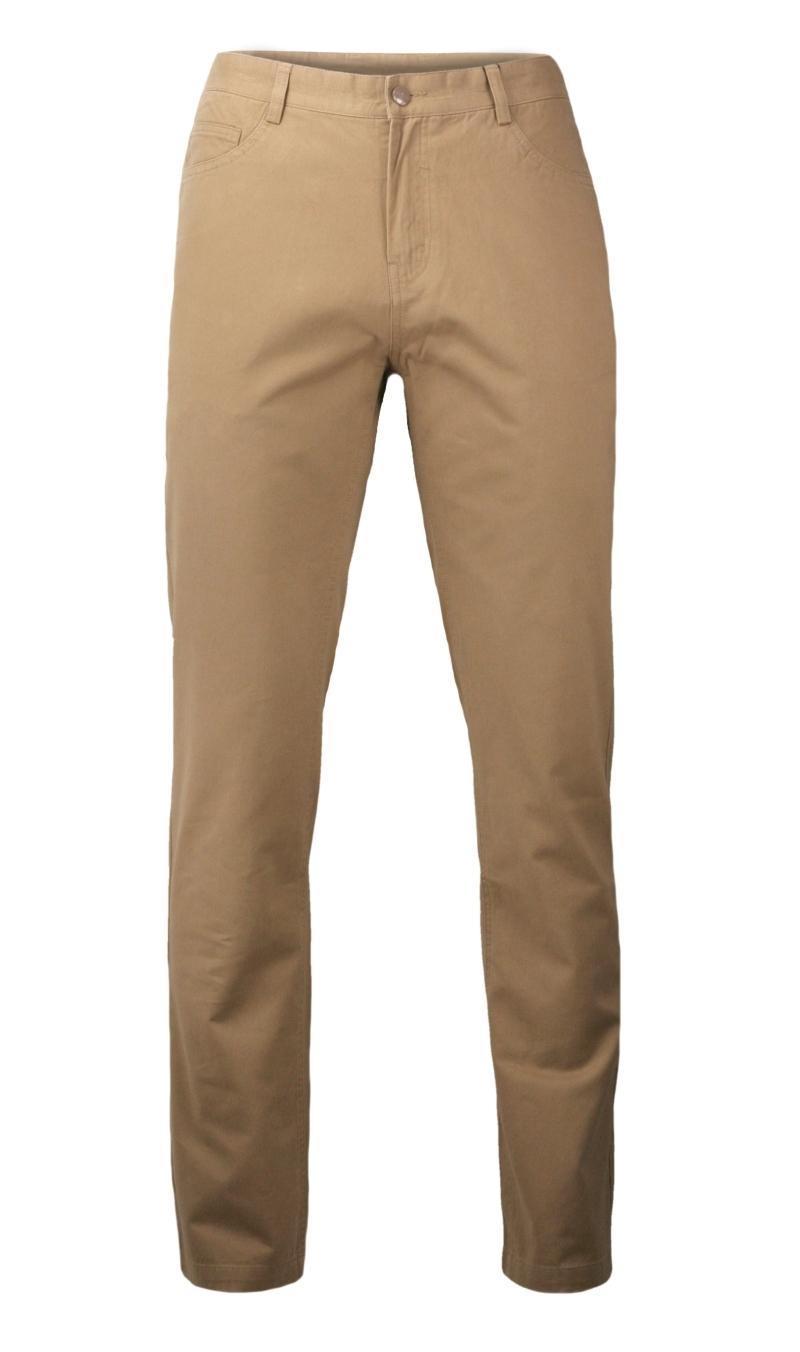 Casualowe Spodnie Męskie, Chinosy - 100% BAWEŁNA, Brzoskwiniowe, Beżowe SPEZREAL635beige