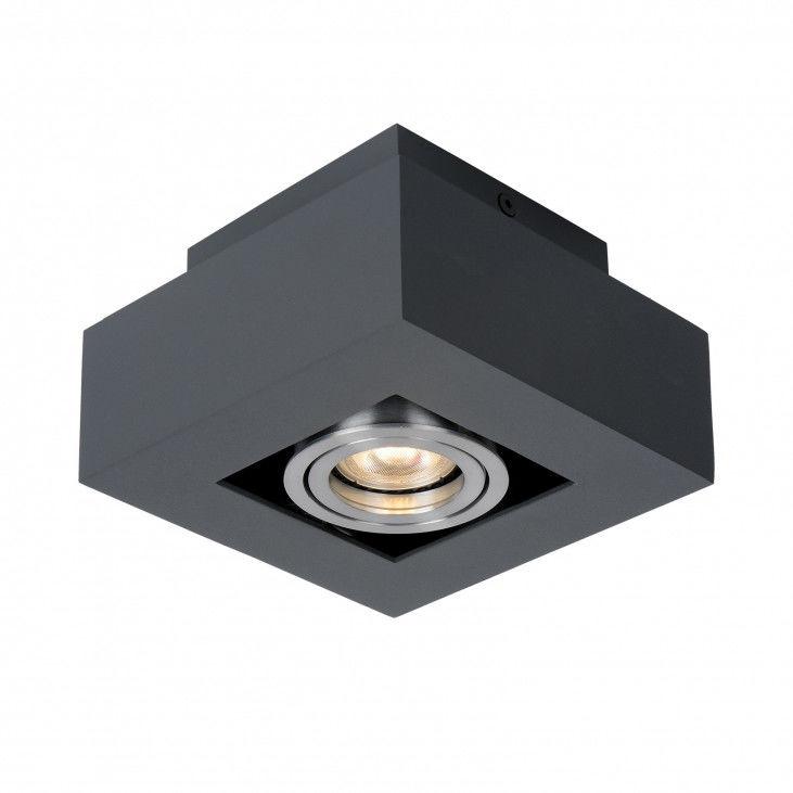 Lampa sufitowa Casemiro IT8002S1-BK/AL Italux czarna nowoczesna lampa na sufit