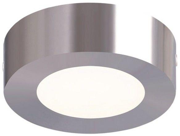 Plafon LED Colours Aius okrągły 600 lm stal szczotkowana