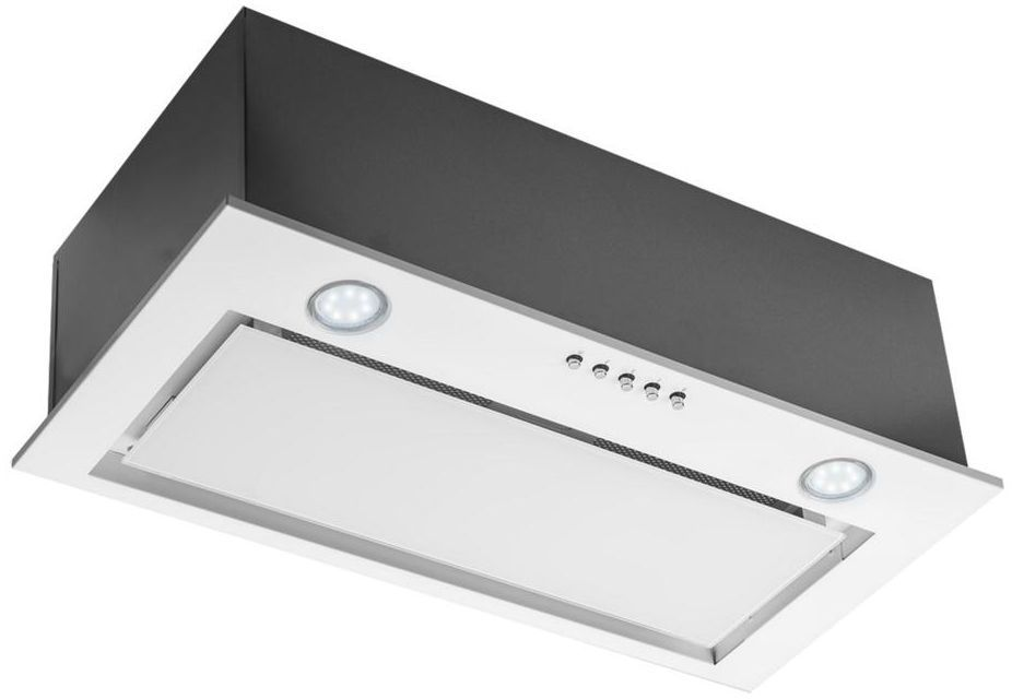 Okap podszafkowy SL-BOX GLASS WH 60 cm CIARKO