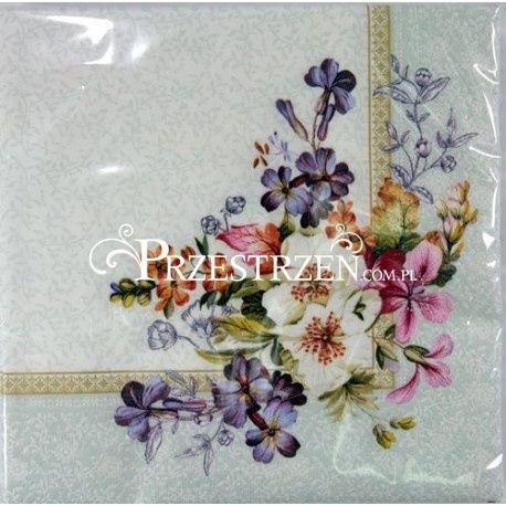 SERWETKI PAPIEROWE - Kwiaty (ORIG)