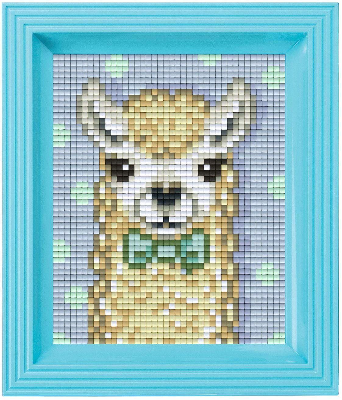 Pixel P31441 mozaikowe opakowanie na prezent alpaka, obraz pikselowy z ramką do dekoracji dla dzieci i dorosłych