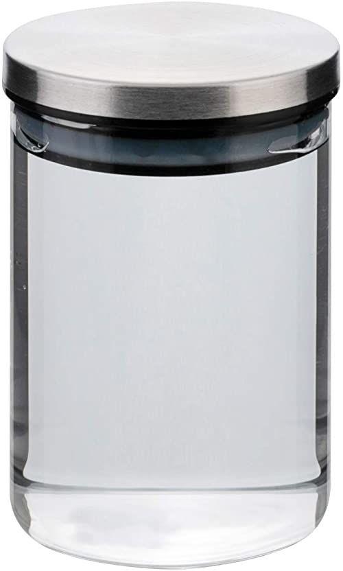 axentia Pojemnik na zapasy ze szkła borokrzemowego, przezroczysty/srebrny/czarny/biały, ok. 500 ml