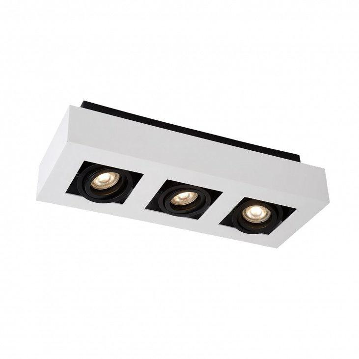 Lampa sufitowa Casemiro IT8001S3-WH/BK Italux biało-czarna nowoczesna lampa na sufit
