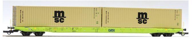 Wagon Platforma Sggnss GATX z kontenerami MSC Igra Model
