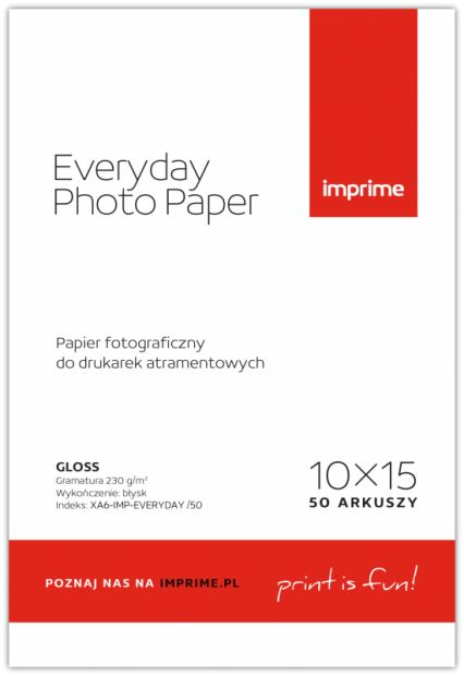 Papier IMPRIME EVERYDAY Photo Paper Glossy 230g - 10x15, 50 arkuszy (EVERYDAY230A6)