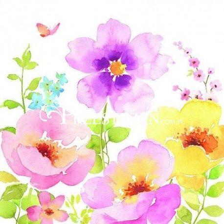 SERWETKI PAPIEROWE - Pastelowe Kwiaty (WATC)
