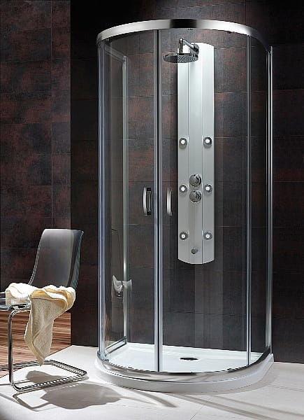 Kabina prysznicowa przyścienna półokrągła Radaway Premium Plus P 100x90 szkło przejrzyste wys. 190 cm. 33300-01-01N