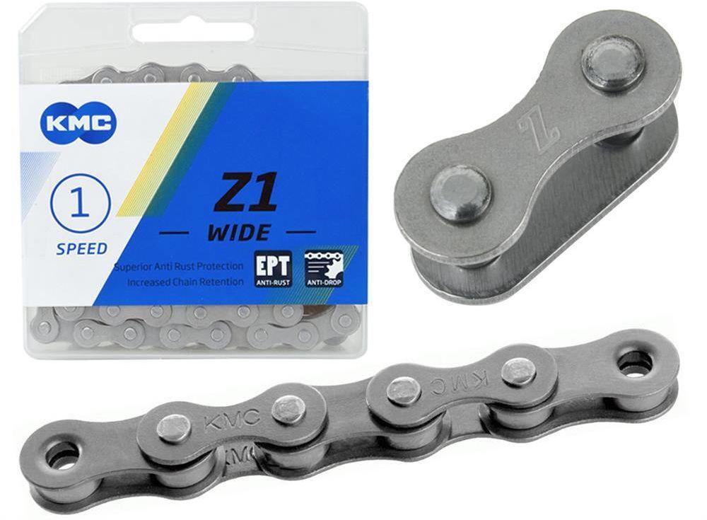 Łancuch KMC Z1 szeroki EPT 1/2 x 1/8, 128 ogniw, 8.6 mm, 1-rzędowy