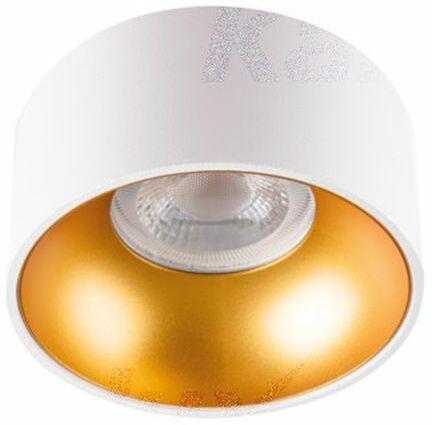 Oprawa sufitowa punktowa natynkowa biało-złota MINI RITI GU10 W/G 27576