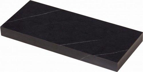 Półka łazienkowa MOSSA 40cm + wsporniki, czarna, Gante