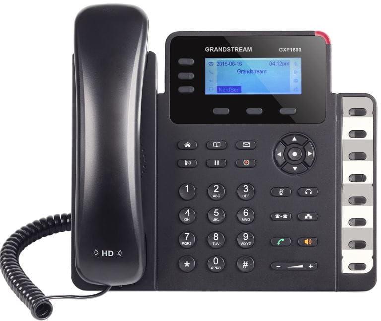 Grandstream GXP1630 - telefon VoIP 3 konta SIP 8 BLF PoE