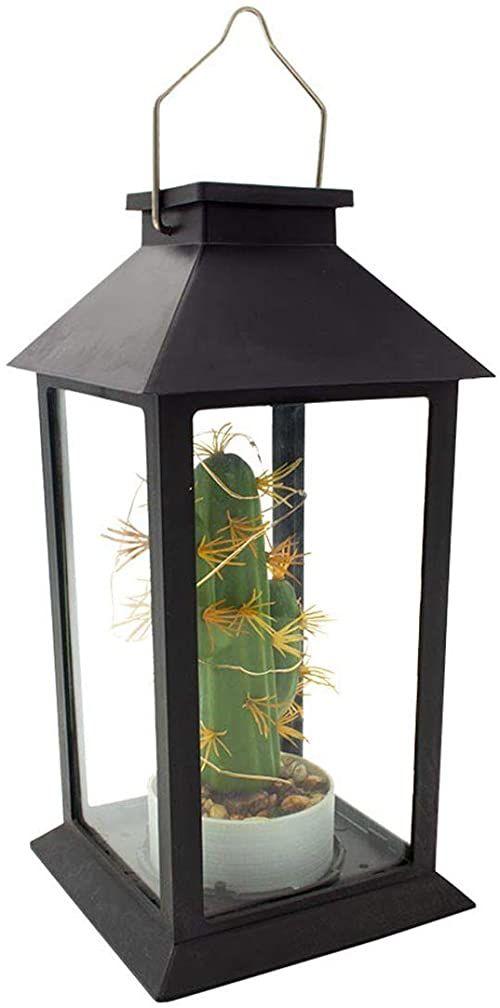 Lampa do roślin, zasilana energią słoneczną, latarnia, kaktus, micro LED, ciepła biel, Pablo H35 cm