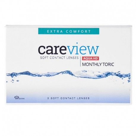 CareView Monthly Aqua HD Toric 3 szt. NOWOŚĆ TANIE I MARKOWE SOCZEWKI KONTAKTOWE
