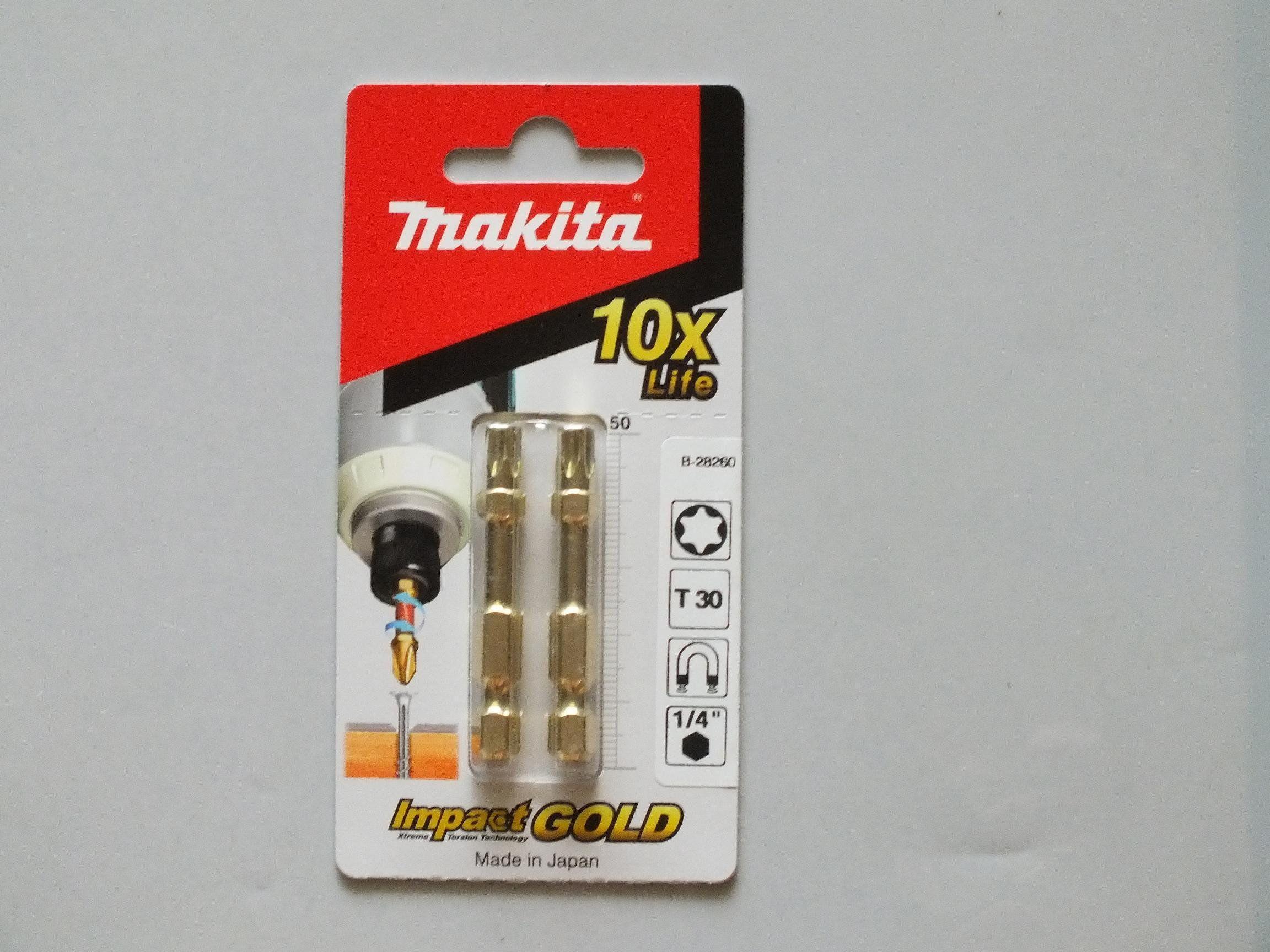 zestaw 2 szt. końcówek udarowych Torx T30/50mm, IMPACT GOLD MAKITA [B-28260]