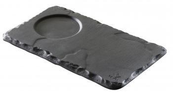 BASALT taca z wcięciem na kubek 80 ml śr. 4 cm
