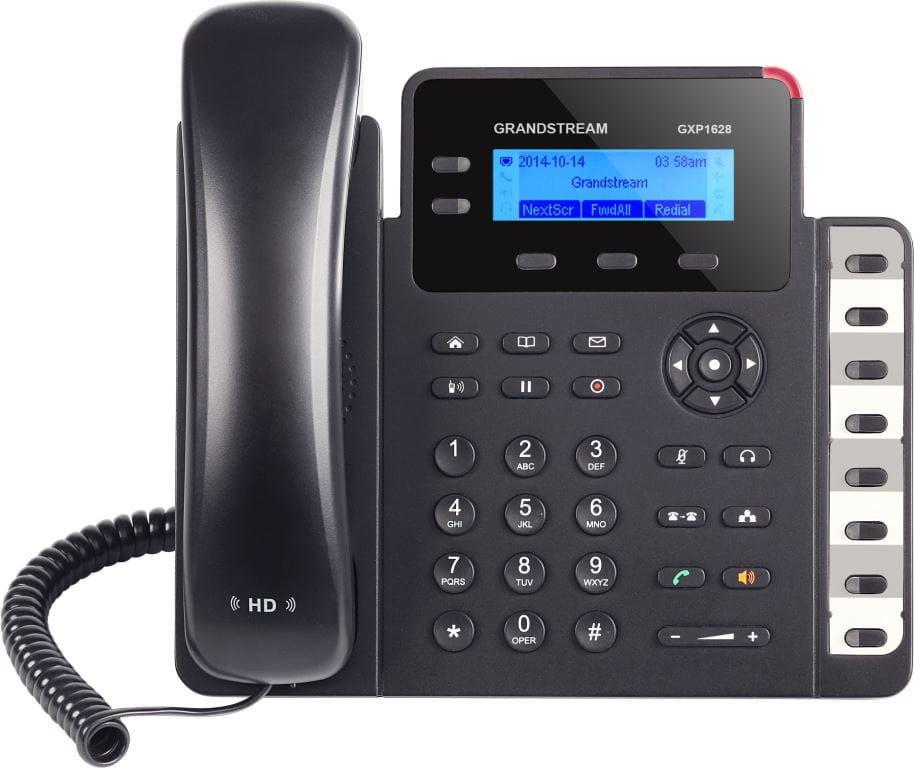 Grandstream GXP1628 - telefon VoIP 3 konta SIP 8 BLF PoE