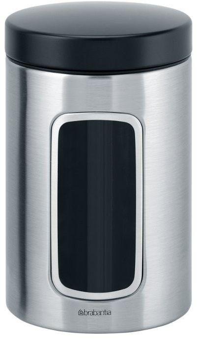 Brabantia - pojemnik z okienkiem  1.4l - stal matowa fpp - stalowy