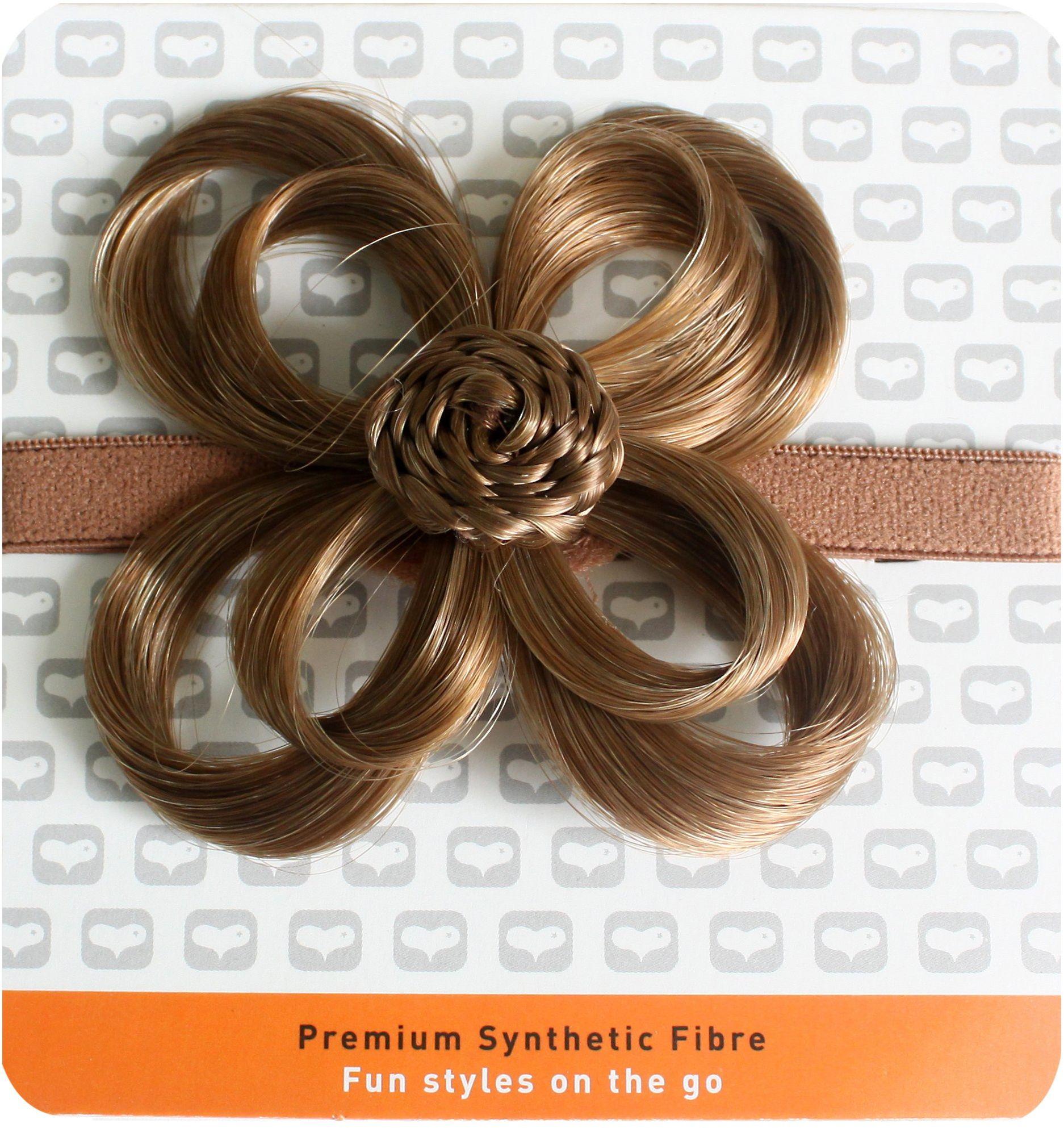 Love Hair Extensions kwiaty na elastycznej opasce na głowę, kolor 5B - safariblond, 1 opakowanie (1 x 1 sztuka)