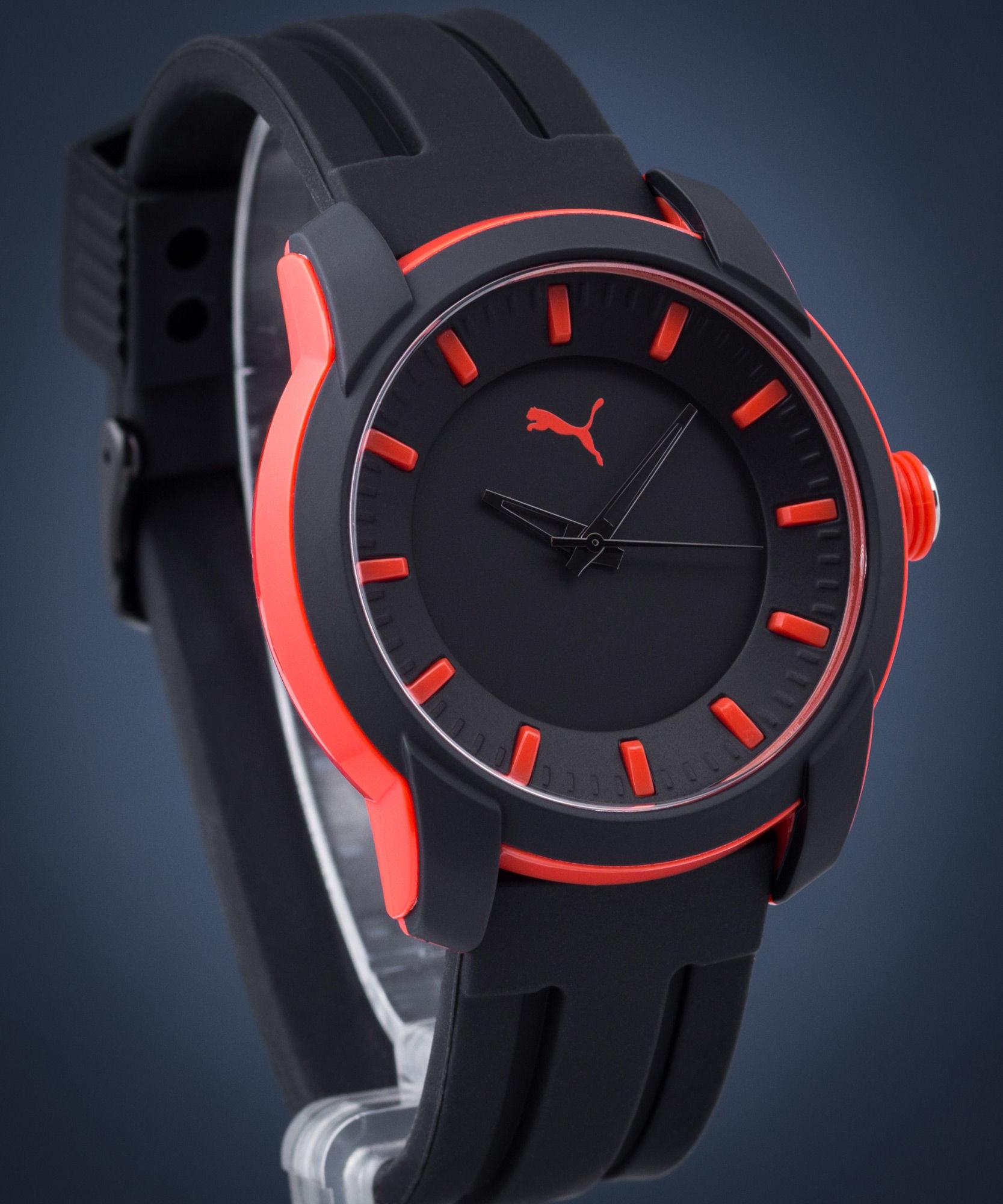 Zegarek męski Puma Black Silicone