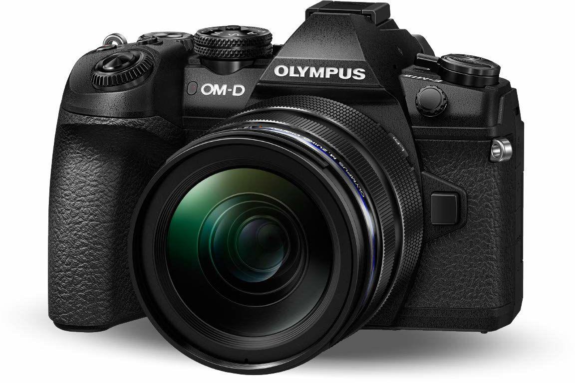 Olympus OM-D E-M1 Mark II, zestaw mikro-cztery trzecie kamera systemowa (20,4 megapikseli, 5-osiowa stabilizacja obrazu, wizjer elektroniczny) M.Zuiko 12-40 mm PRO uniwersalny zoom, czarny