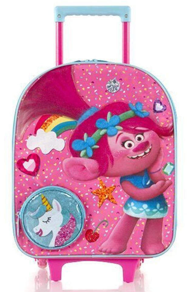 Dziewczęca walizka Heys DreamWorks Softside Luggage - Trolls/Unicorn