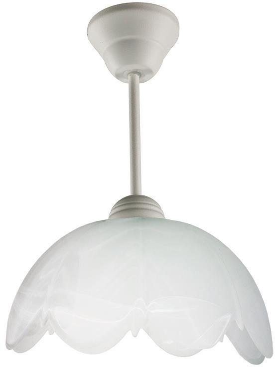Klasyczna lampa wisząca E501-Cyrkonix - biały