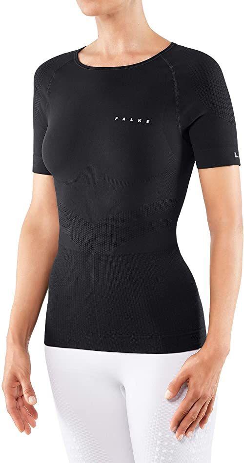 Falke Running Impulse koszulka damska, koszulka z krótkim rękawem, 1 opakowanie, czarna (Black 3000), rozmiar: M