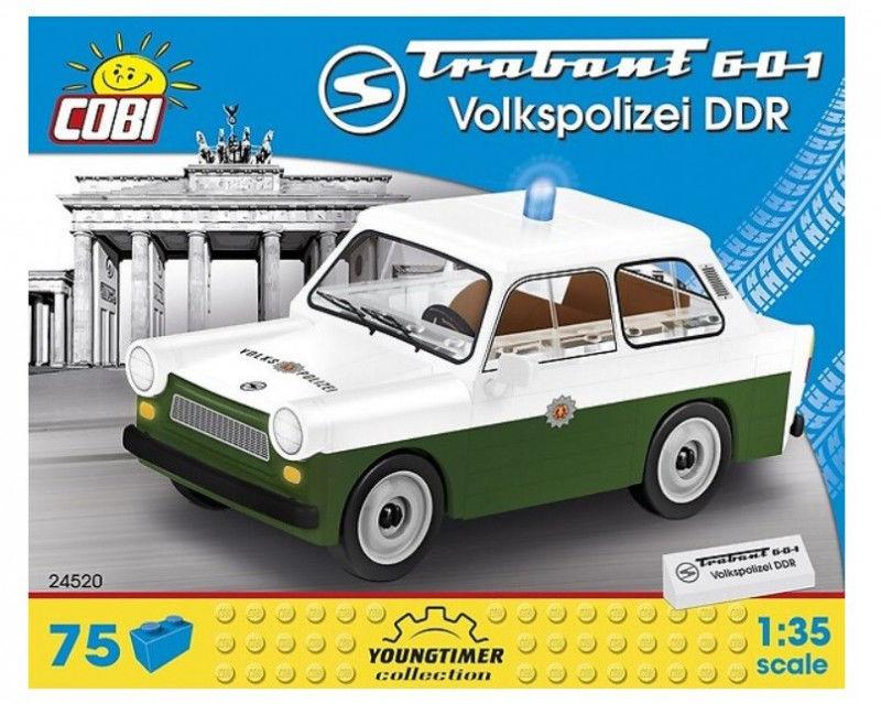 Klocki Cars Trabant 601 Volkspolizei DDR 74 elementów