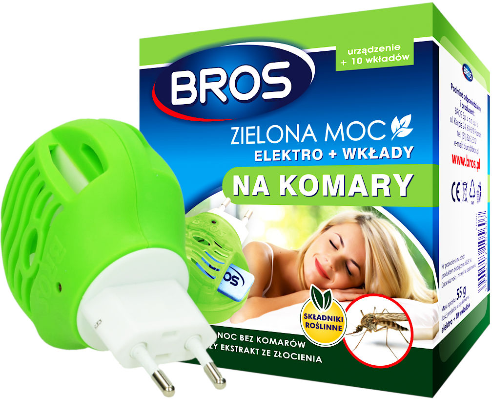 Elektro na komary + 10 wkładów Zielona Moc Bros