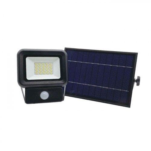 Naświetlacz LED SOLARNY 20W biały zimny z czujnikiem ruchu