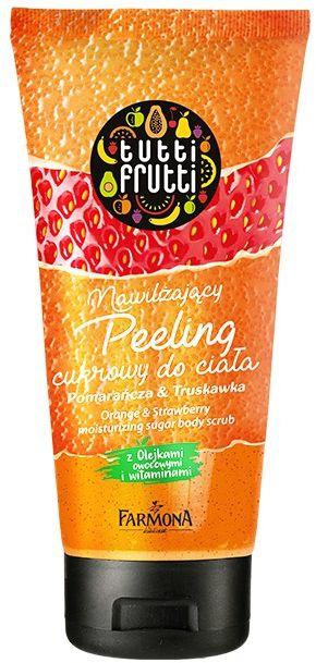 TUTTI FRUTTI Pomarańcza & Truskawka nawilżający peeling do ciała 210 ml
