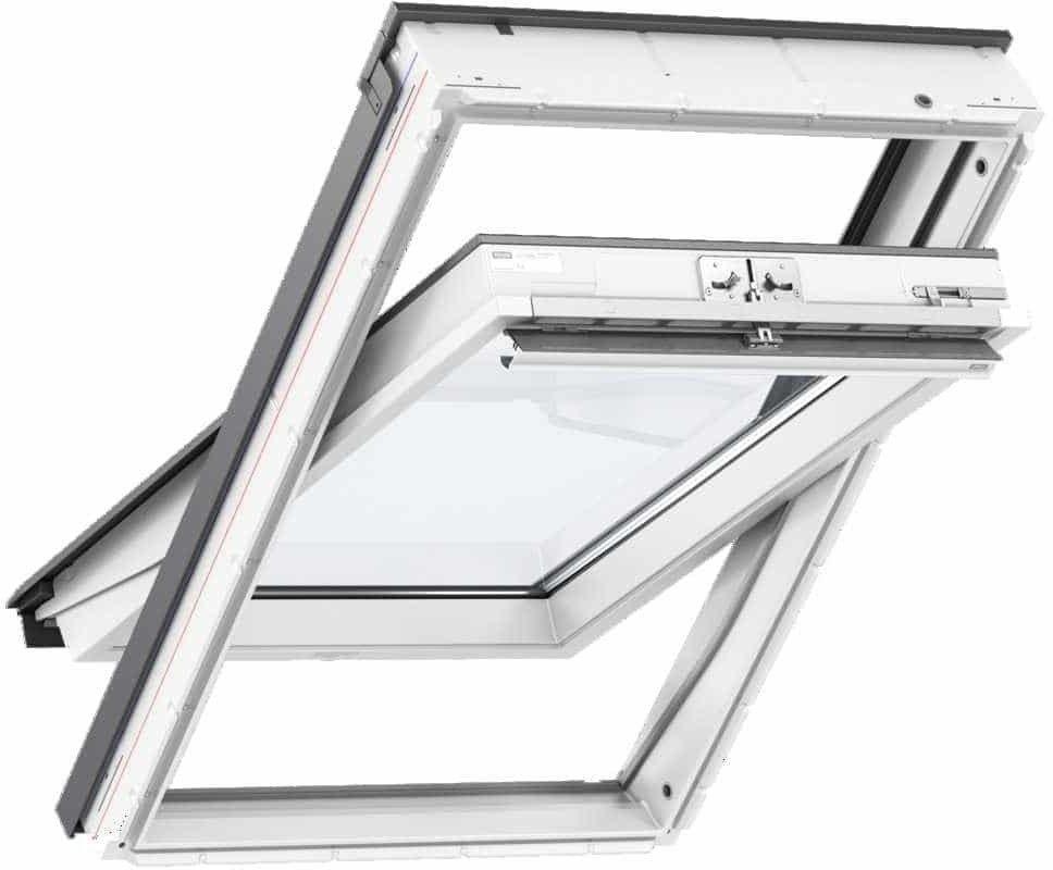 Okno obrotowe GLU 0051 VELUX z górnym otwieraniem