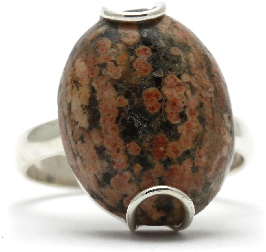 Kuźnia Srebra - Pierścionek srebrny, rozm. 17, Jaspis, 5g, model