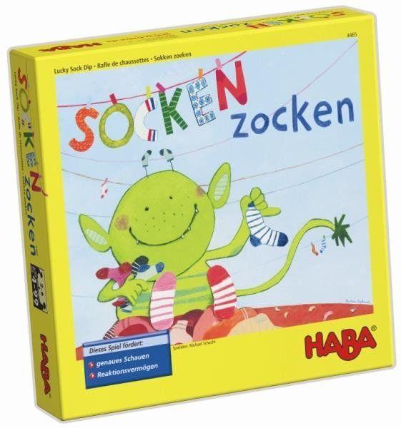 Gra zręcznościowa Skarpetkowy potwór Haba, zabawy edukacyjne