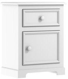 Biała klasyczna szafka nocna