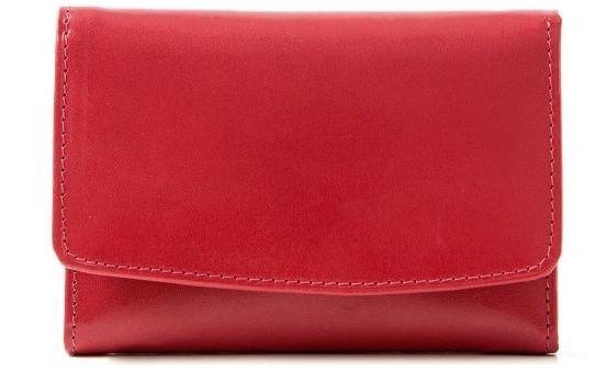 Malinowy portfel damski skórzany BW41
