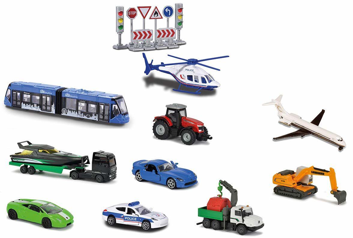 Majorette  7/212058590  miniaturowy pojazd  zestaw B200 10 pojazdów odkrytych  skala 1:64