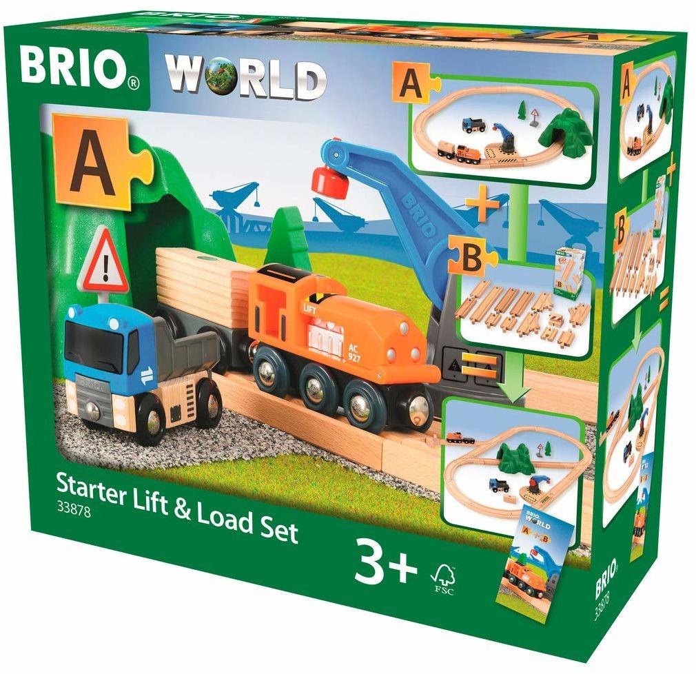 BRIO Bahn 33878 - zestaw startowy pociąg towarowy z kołnierzem
