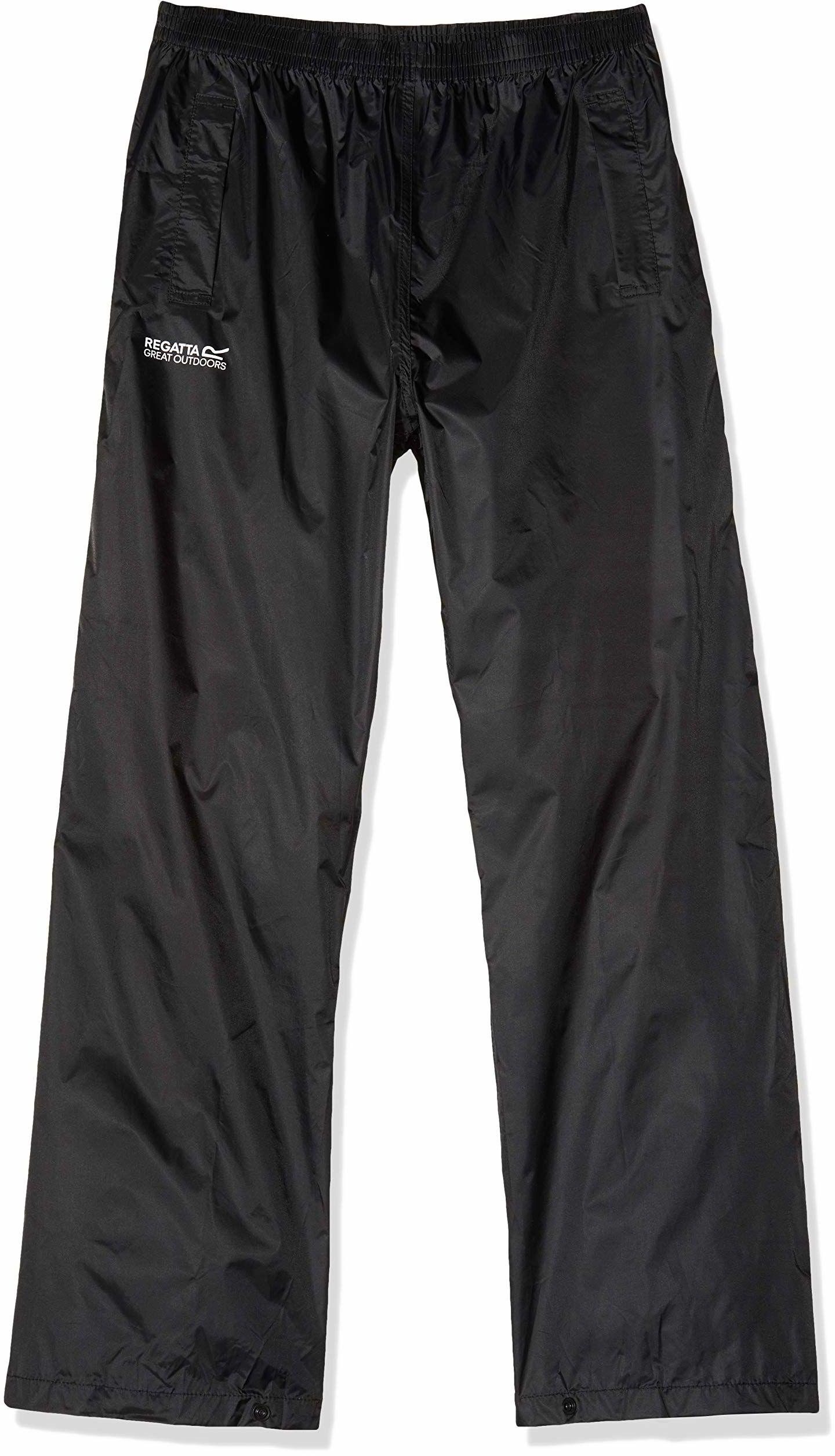 Regatta Unisex Dzieci Pack It Regatta Pack It Over Spodnie - Czarne, Rozmiar 9-10 Czarny Size 3-4