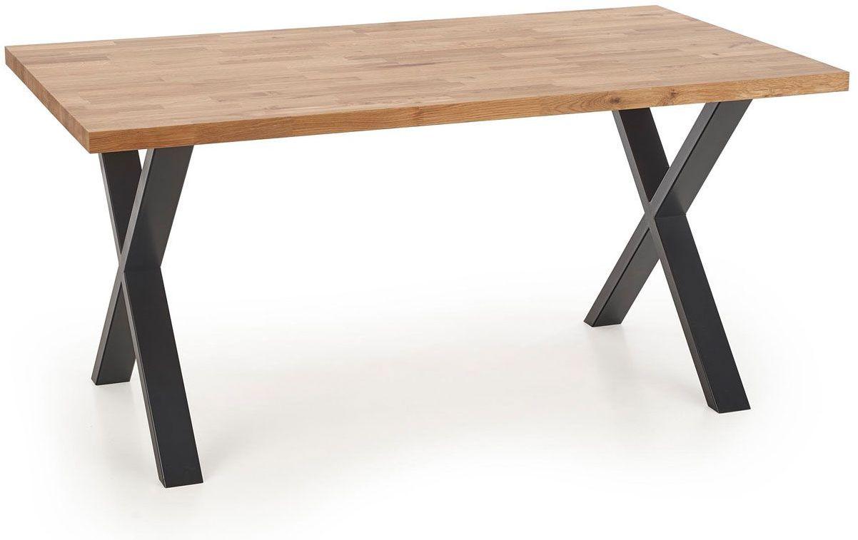 Nowoczesny stół loftowy do jadalni Berkel 3X 160 - dąb
